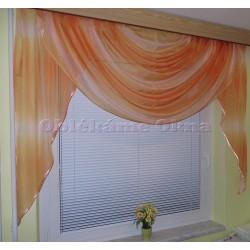 Oranžovo-růžová Voda - hotová záclona