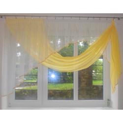 Žluto-bílá hotová záclona
