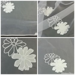 Organza květiny - metráž