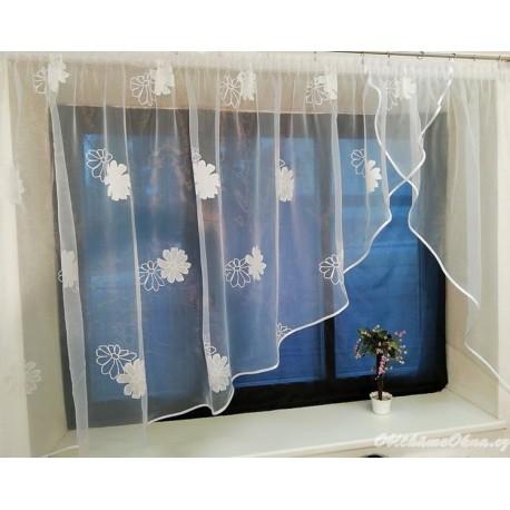 Záclona Květina - moderní záclona